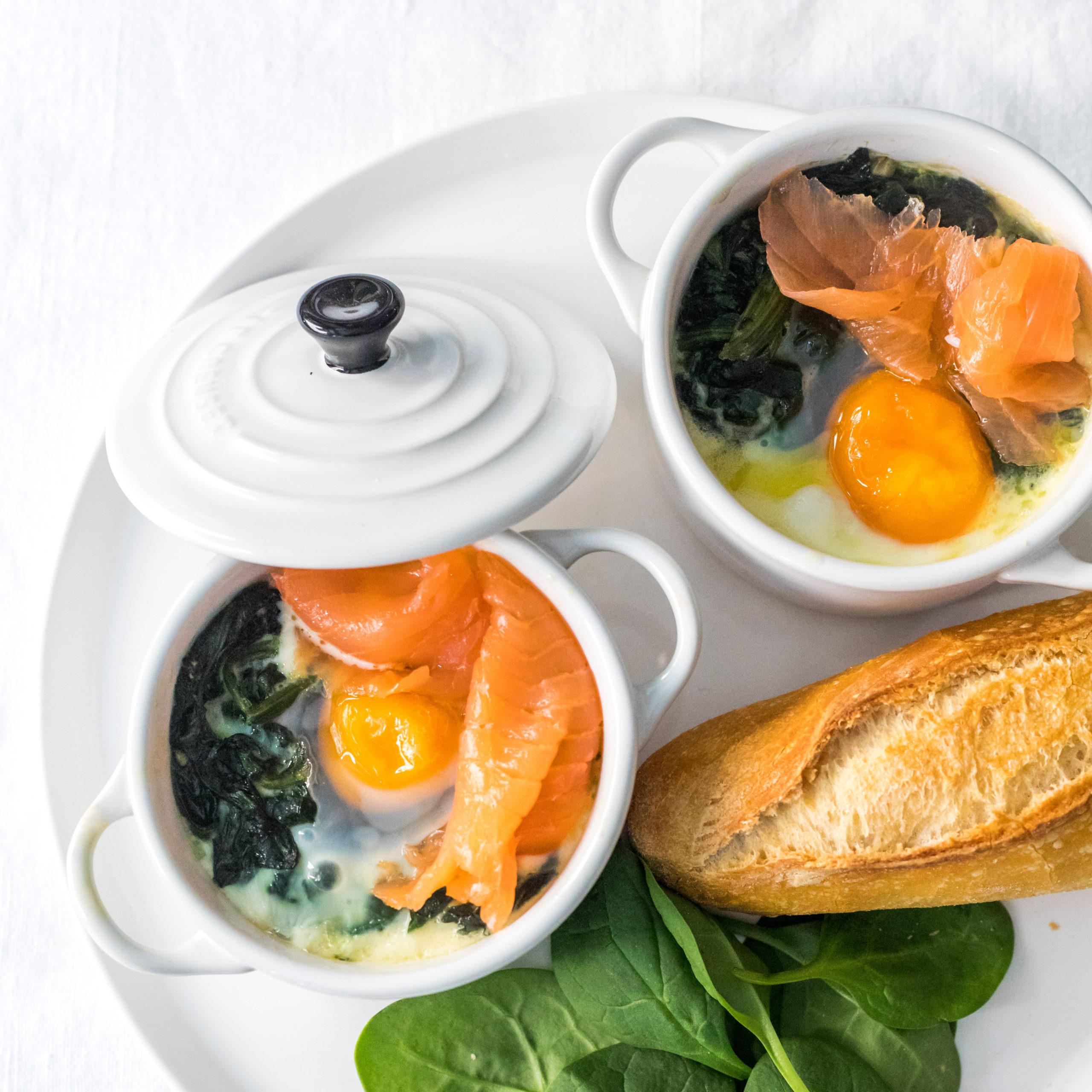 receta de huevos con espinacas y salmón
