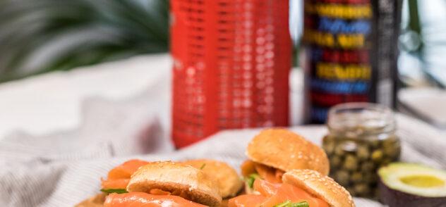 hamburguesas de salmon